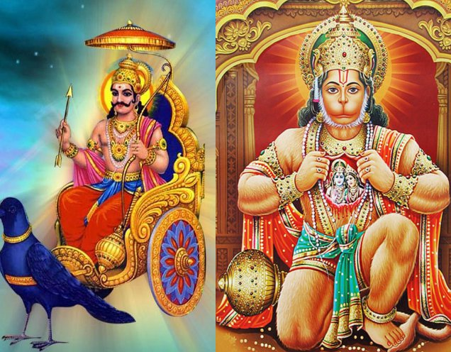 Lord Hanumana and Lord Shani