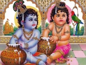 Krishna and Balrama