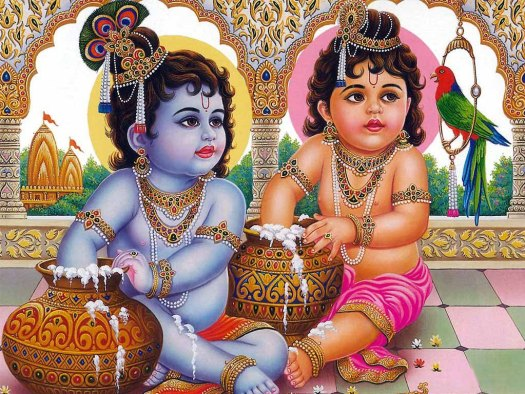 Krishna and Balrama