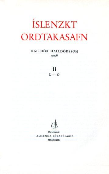 Íslenzkt orðtakasafn