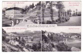 Postkarte Endschütz 1907