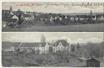 Gesamtansicht Endschütz und Rittergut aus dem Jahre 1934