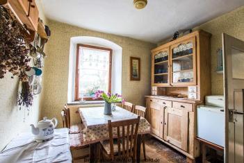Rittergut Endschütz Ferienwohnung Alpenveilchenwohnung Küche