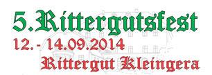 5. Rittergutsfest vom 12.-14.09.2014