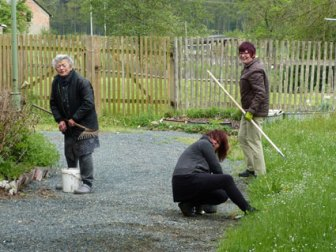 Frühjahrsputz im Rittergut Kleingera