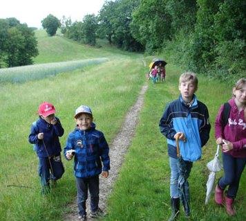 Die Jungen Naturforscher wandern in die Eichleite