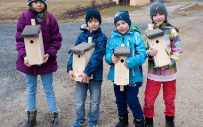 Junge Naturforscher bauen Nistkästen 2015