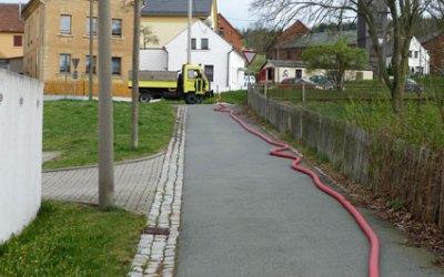 Feuerwehreinsatz am Küchenteich 09.04.2014