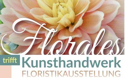 Floristikausstellung im historischen Stallgebäude im Rittergut Kleingera