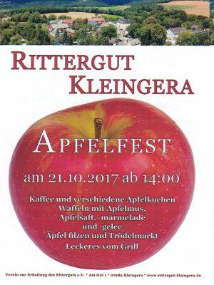 Apfelfest im Rittergut Kleingera 2017