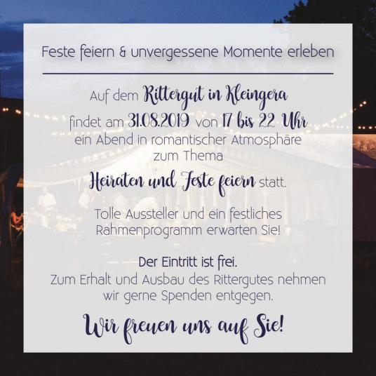 Rittergut Kleingera Heiraten und Feste feiern