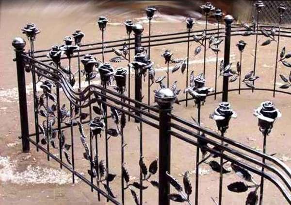 Купить кованую ограду на могилу цена в СПб