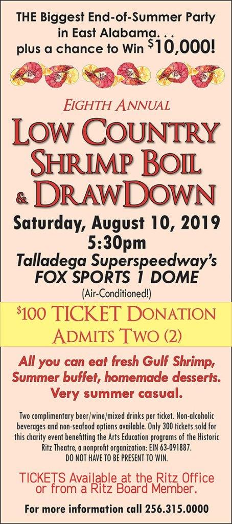 Low County Shrimp Boil   Historic Talladega Ritz Theatre