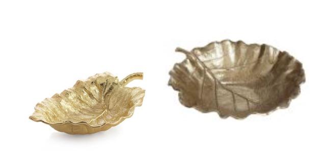 gold leaf tray