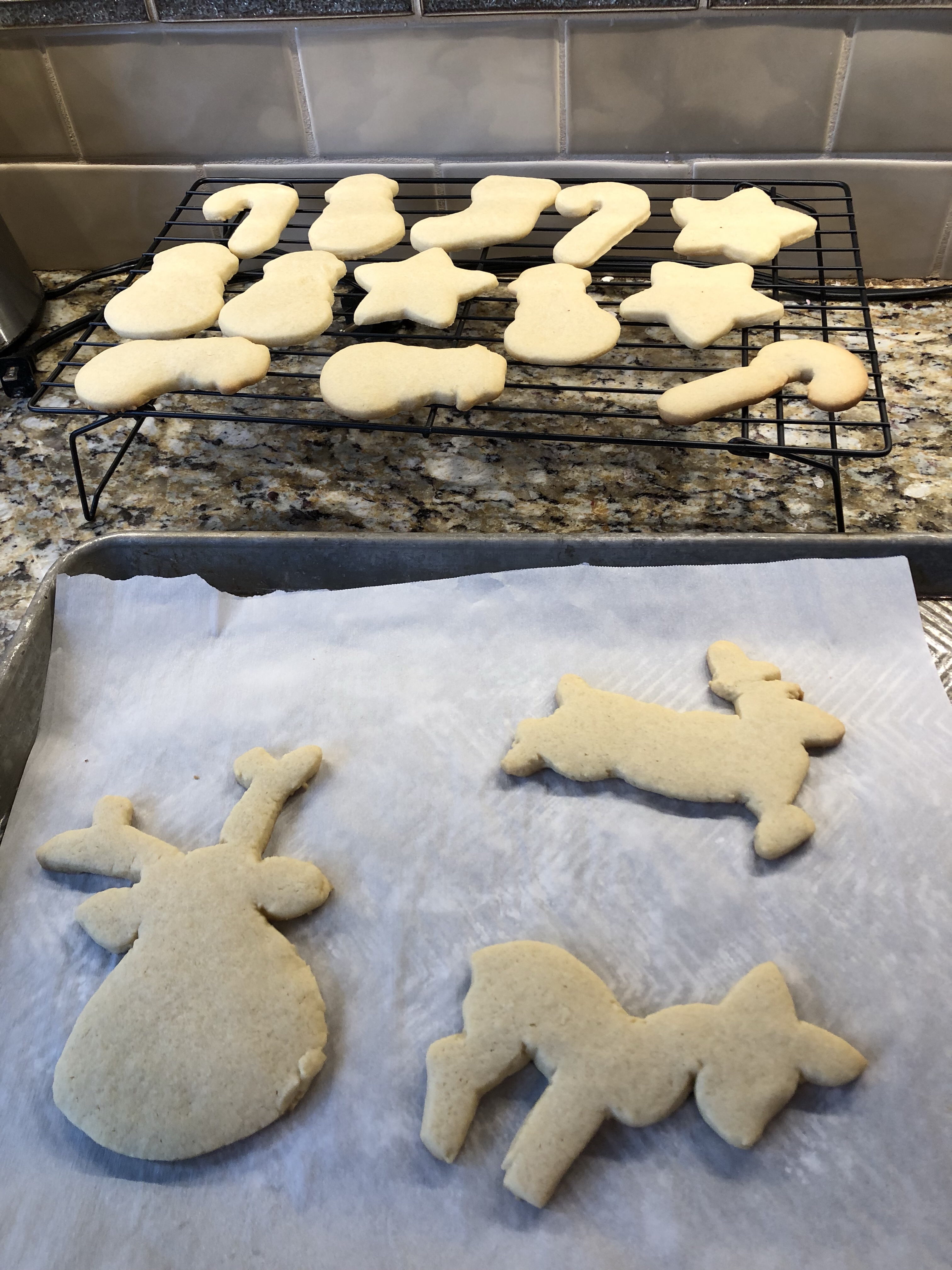 Cut out sugar cookies christmas