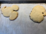 View of Santa and Mickey Mouse Cookies