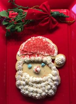 Decorated Santa cookie