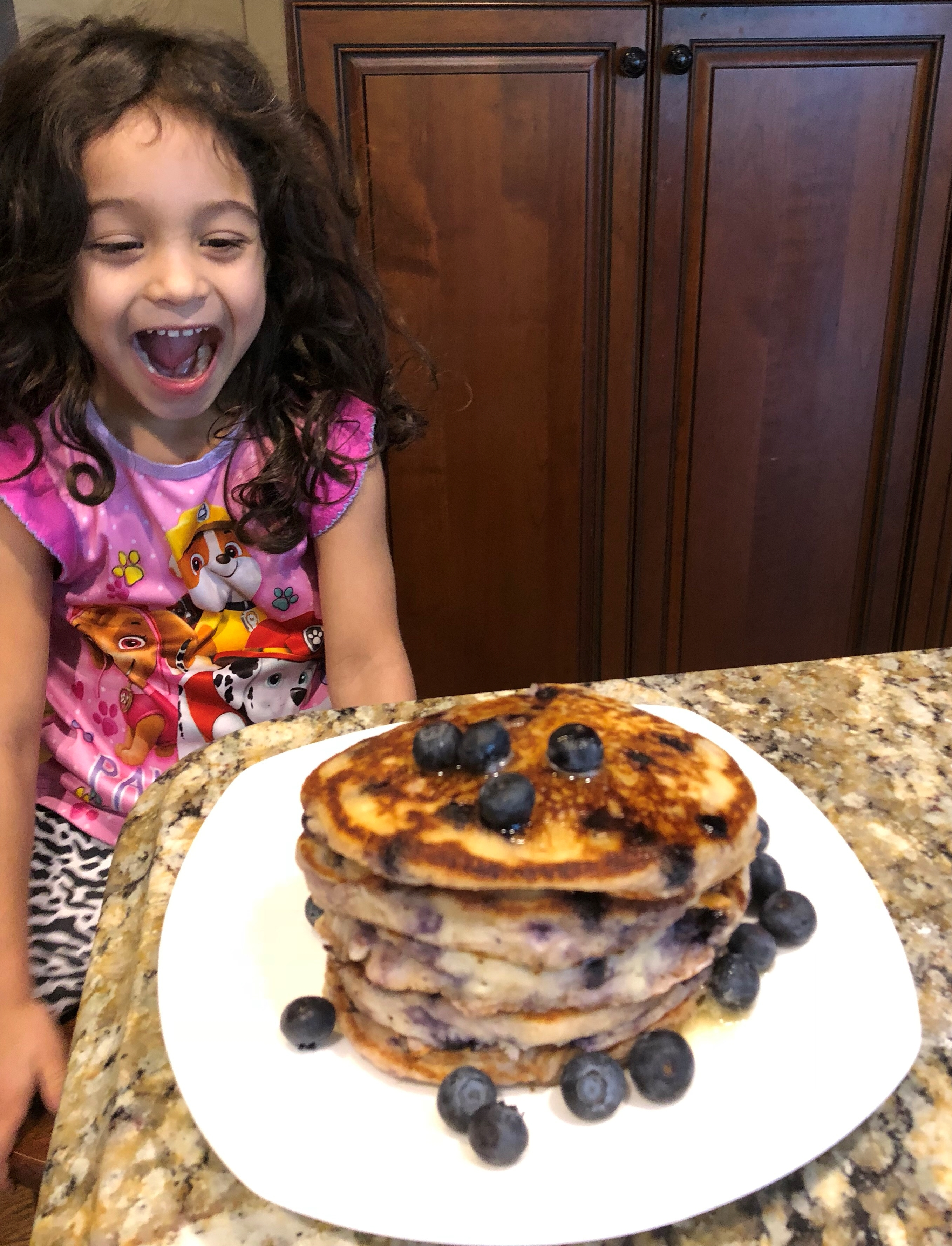 Excited about pancakes