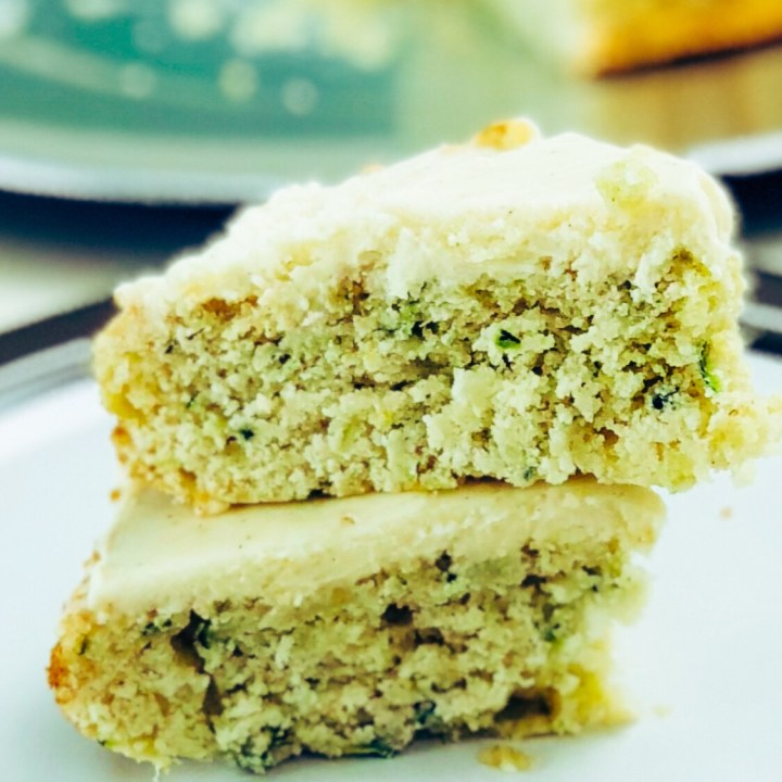 Zucchini Ginger Spice Cake with Cream Cheese Frosting