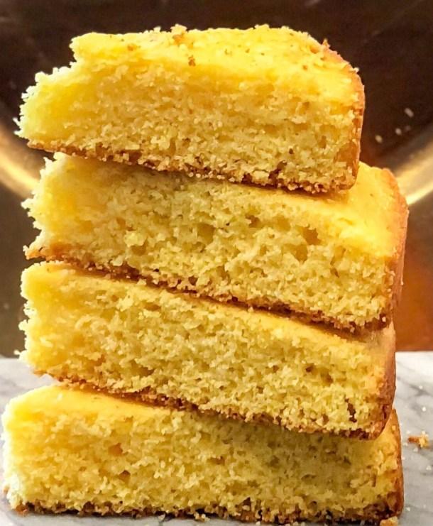Stack of cornbread