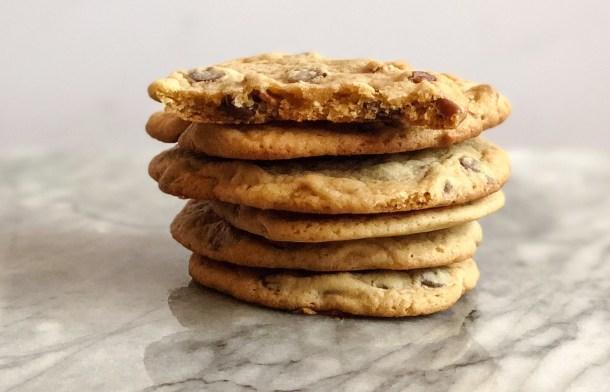 Dark Chocolate Chip Cookies with Pecans