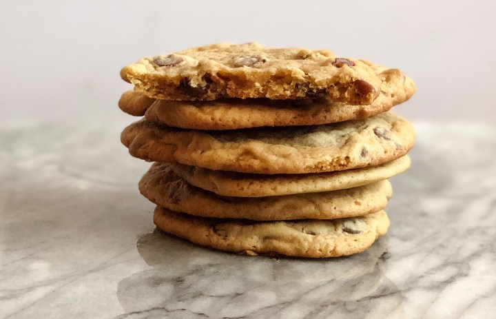 Dark Chocolate Chip Cookies with Pecans