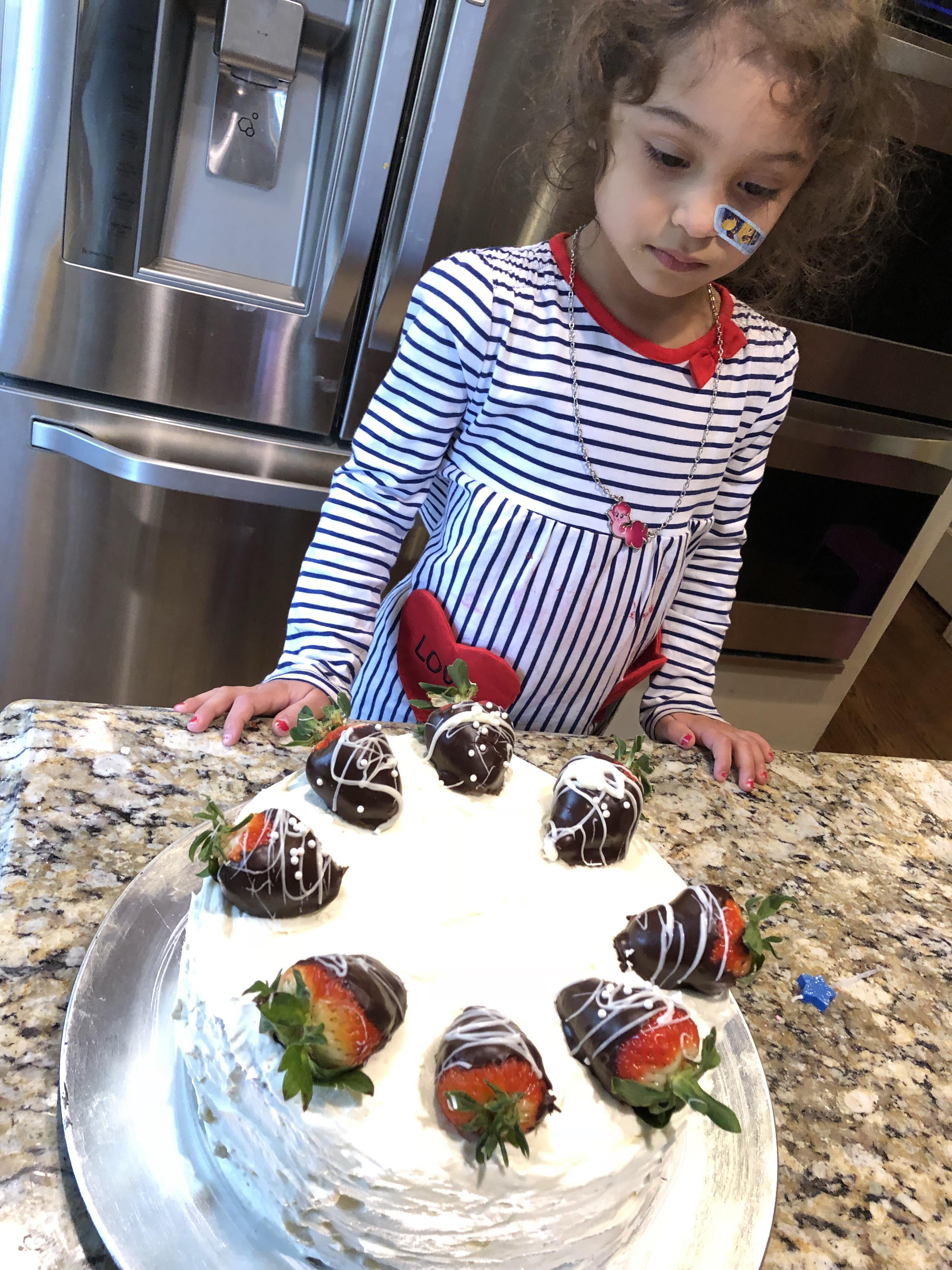 Arrange chocolate covered strawberries