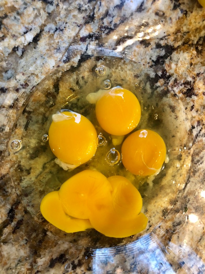 Whole eggs and egg yolks