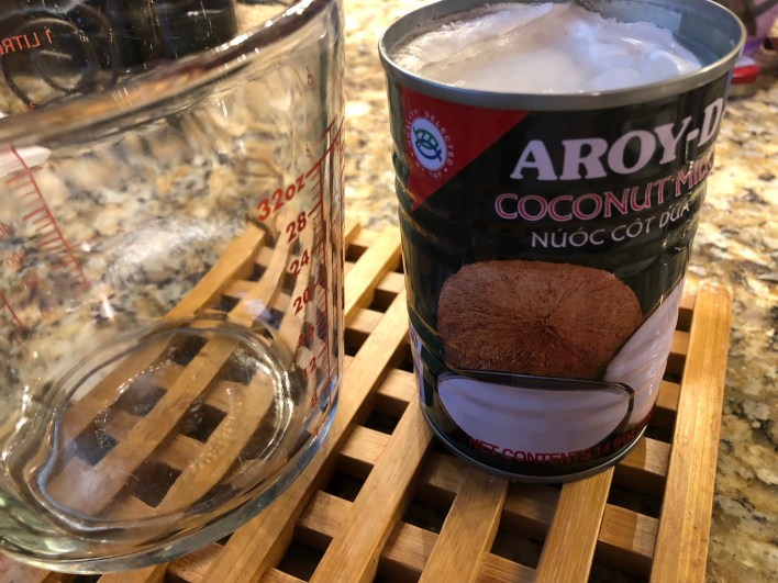 Authentic coconut milk