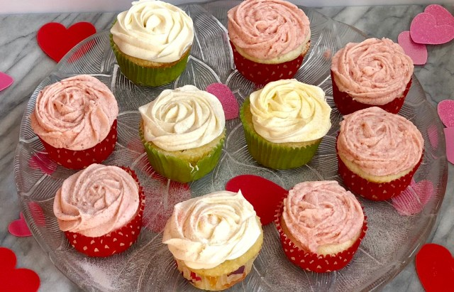 The Bachelor Final Rose Cupcakes