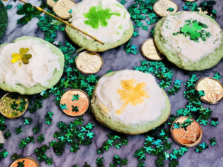 Shamrock Shake Cookies
