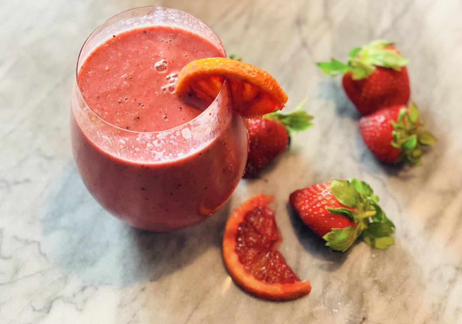 blood orange smoothie