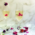 Champagne Gelee with Edible Flowers