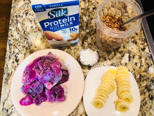 Ingredients for Dragonfruit Smoothie Bowl