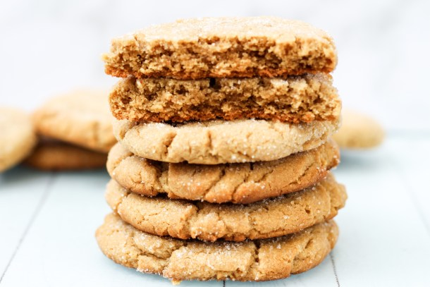 thick, chewy, peanut butter cookies