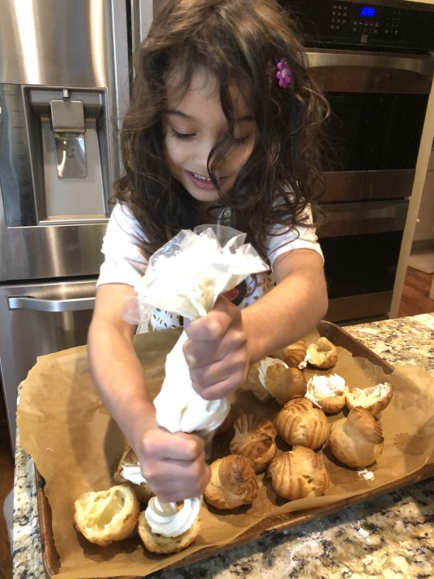 Five year old baker