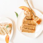 peach and bourbon cake