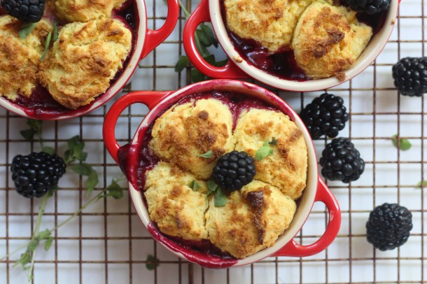 Blackberry Port Cobbler