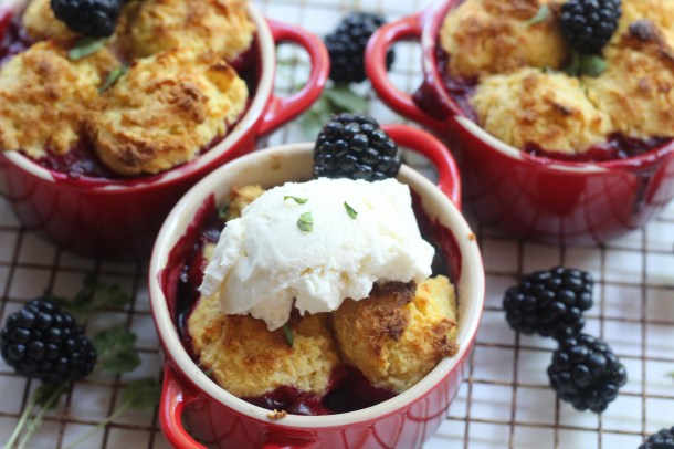 Fall Blackberry Cobbler With Marjoram