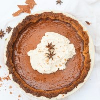 Caramelized White Chocolate Pumpkin Pie