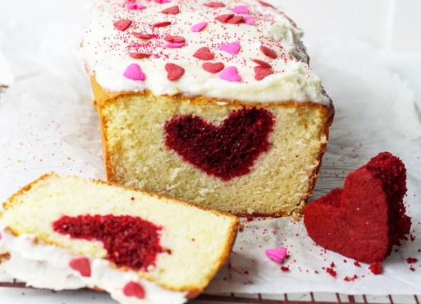 hidden heart vanilla cake