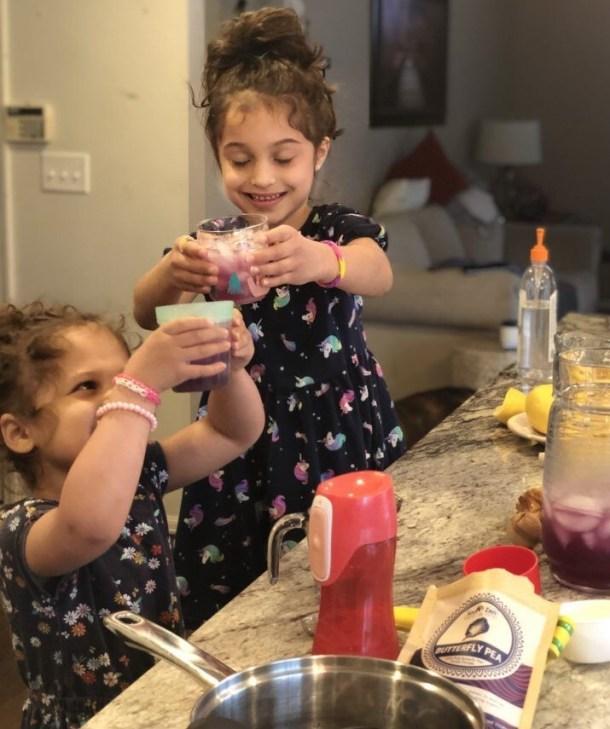 kids making magic lemonade