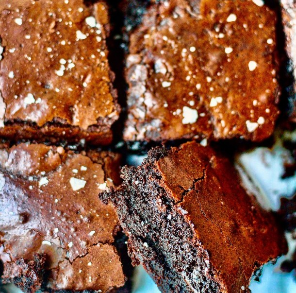brownies with dark rye flour
