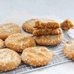 brown butter miso peanut butter cookies