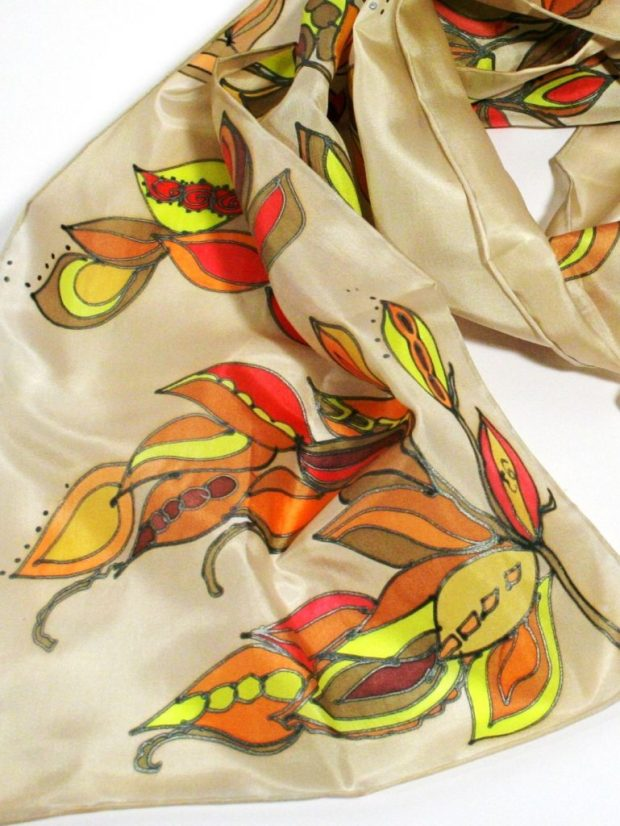Colorful Leaves Scarf
