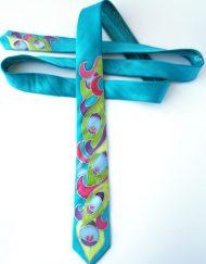 Peacock Skinny Tie