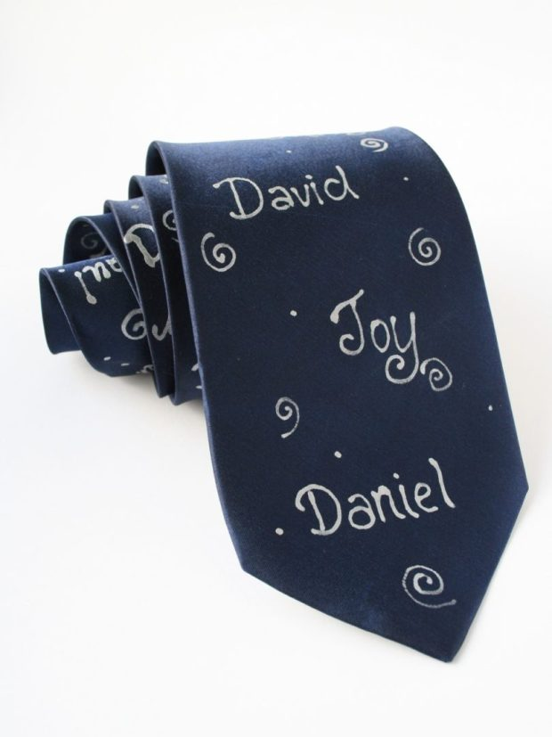 Personalized Names Tie