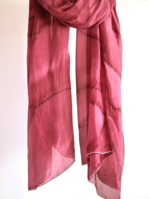 Marsala Silk Scarf, Huge maroon wrap
