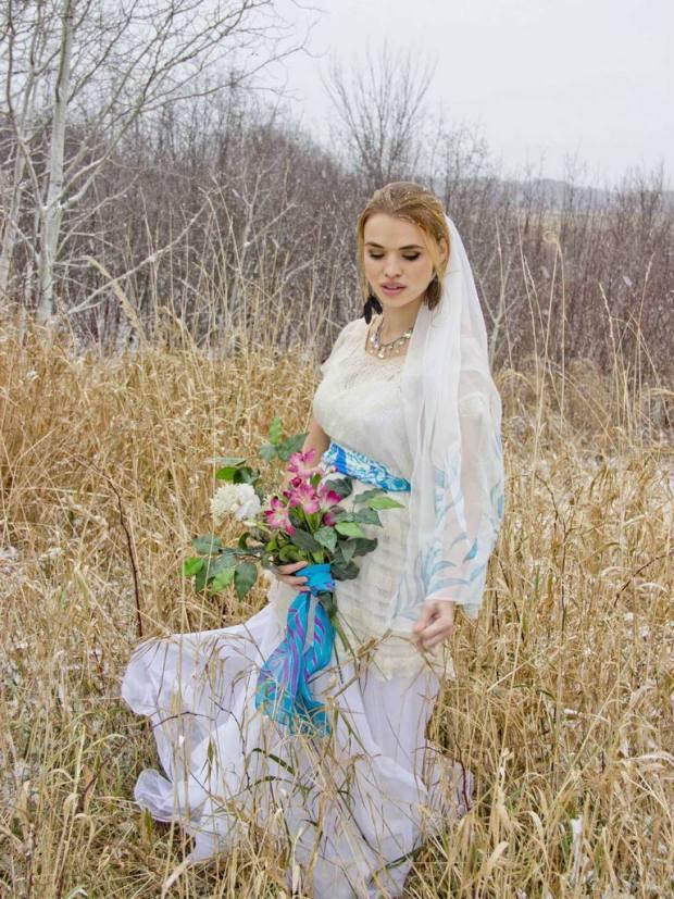 Peaocck wedding veil