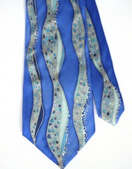 Blue Waves Tie